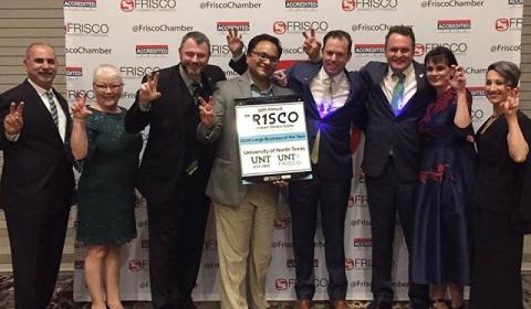UNT awarded 2018 Large Business of the Year by Frisco Chamber of Commerce