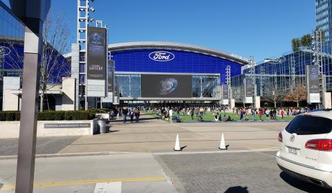 The Ford Center and Tostitos Championship Plaza
